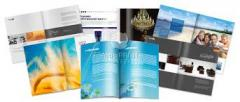 Services in production of brochures