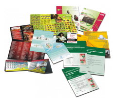 Services in the printing of business cards