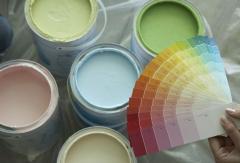 Окраска стен колером на 1 раз