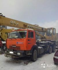 Services of the truck crane of 25 tons