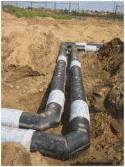 Thermal insulation of pipes, pipelines and