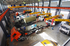 Repair of truck cranes (arrow, hydraulics, etc.)