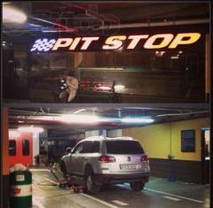 Mounting of Pit Stop Astana, Saryark's shopping