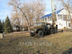 Drilling of wells on water for drinking and
