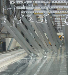 Hot galvanizing of a metalwork