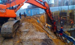 Dredging of groove in Almaty