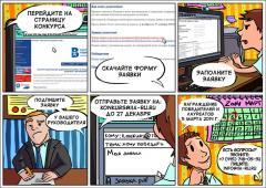Разработка рекламных комиксов. Дизайн комикса