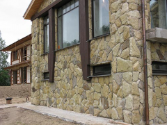Facing of facades natural stone