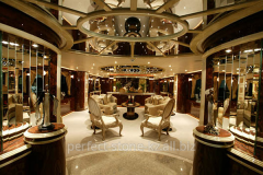 Interior design of private yachts and boats