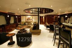 Разработка дизайна интерьера для  частных Яхт,