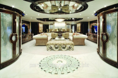 Design and decor of interiors for private yachts