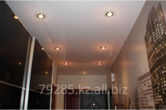 Installation of stretch ceilings in hall (in