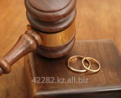 The help at divorce proceedings in vessels of