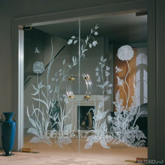 Production and installation of glass doors