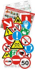 Signs according to safety measures