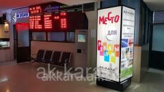 Advertizing on pillarsa at the Airpor
