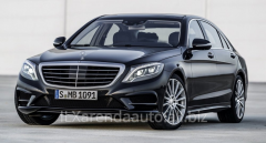 Rent of a car of a S-class (with the driver)