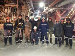 Mounting of the boiler equipmen