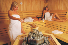 The Finnish sauna in Diamond spa-salon