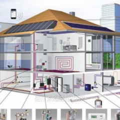 Design of heating of houses, hotels, hostels,