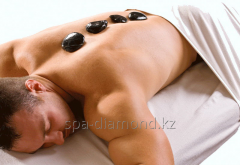 Stone massage by stones