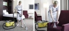 Cleaning of rooms under the contrac