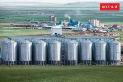 Services of storage of grain crops on elevators