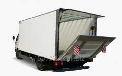 Cargo transportation automobile across Almaty (a