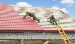 Service of installation of a roof