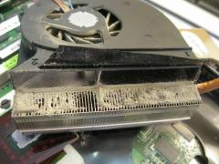 Elimination of an overheat of the laptop, cleaning