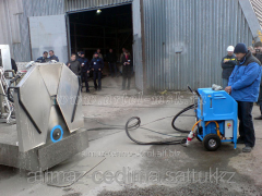 Diamond cutting of concrete