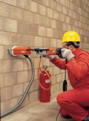 Diamond drilling of openings in walls and floors