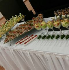 Buffet receptions with a canape snack