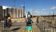 Services geodetic when carrying out installation
