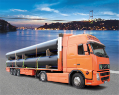 Service of transportation of pipes