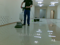 Cleaning and polishing of floors of ALMATY