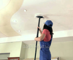 Cleaning of stretch ceilings