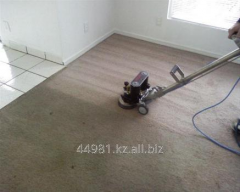Dry cleaning of carpets and furniture