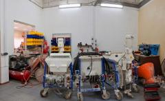 Repair of plaster stations