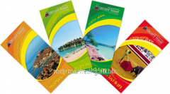 Design of the advertizing leaflet, catalog,