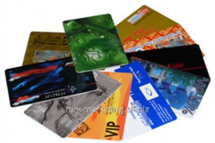 Production of plastic cards