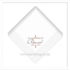 Drawing logos on napkins