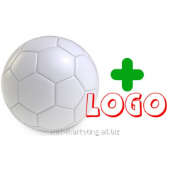 Drawing advertizing on a ball