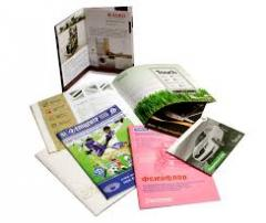 Printing of brochures advertizing