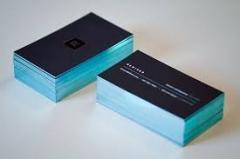 Printing of business cards