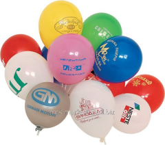 Advertizing in balloons