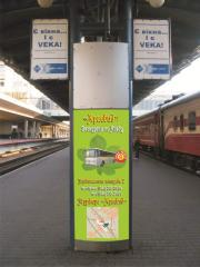 Advertizing on platforms of railway stations