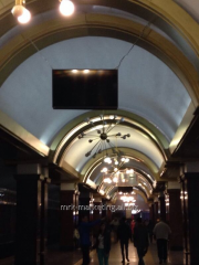 Реклама в метро на плазменных мониторах на