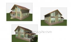 Строительство дома 177.1 м2
