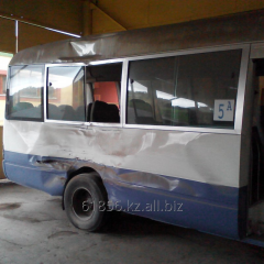 Body repair of buses and painting